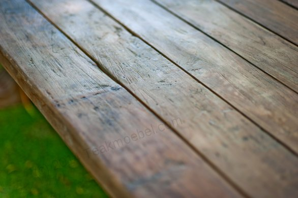 Outdoor Teak Klostertisch 300x100 - Bild 14