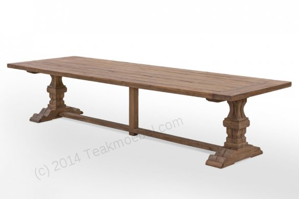 Outdoor Teak Klostertisch 350x120 - Bild 1