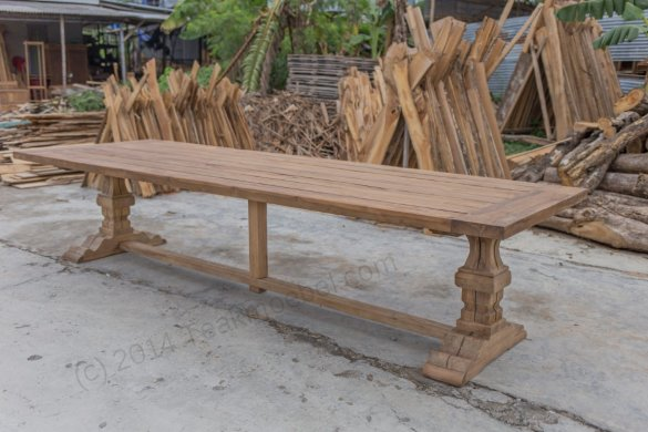 Outdoor Teak Klostertisch 350x120 - Bild 0
