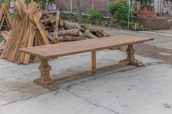 Outdoor Teak Klostertisch 350x120 - Bild 3