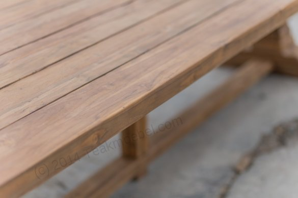 Outdoor Teak Klostertisch 350x120 - Bild 6