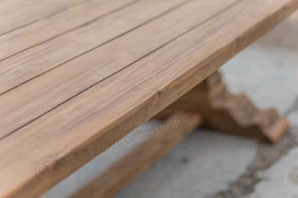 Outdoor Teak Klostertisch 350x120 - Bild 7