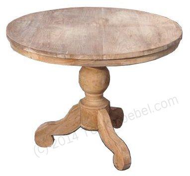 Teak Tisch rund Ø 100 cm - Bild 0