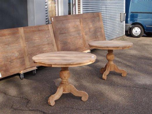 teak tisch rund 100 cm. Black Bedroom Furniture Sets. Home Design Ideas
