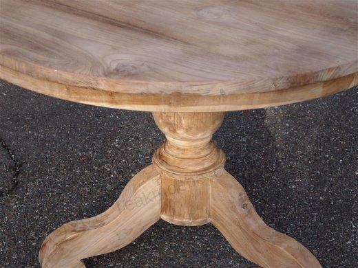 Teak Tisch rund Ø 110 cm - Bild 3