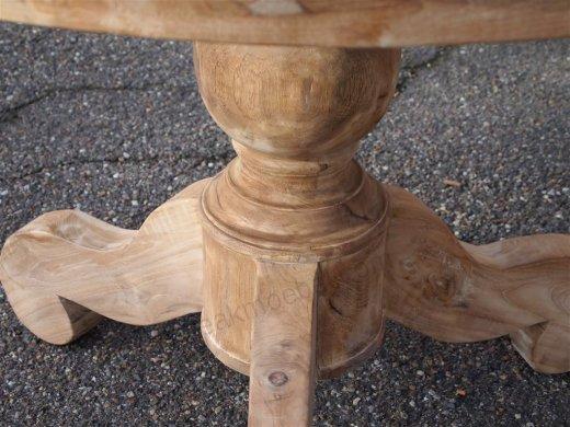 Teak Tisch rund Ø 110 cm - Bild 1