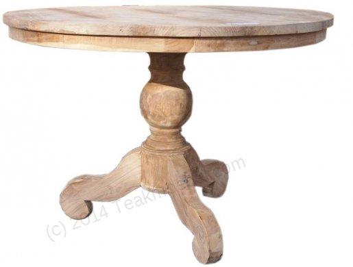 Teak Tisch rund Ø 110 cm - Bild 0