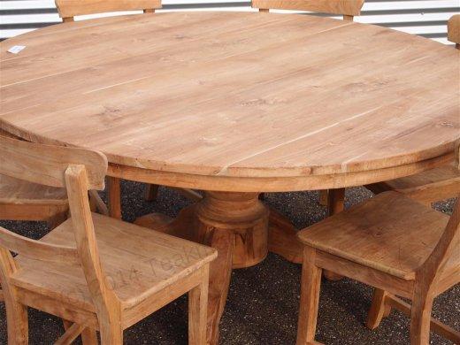 Teak Tisch rund Ø 160 cm - Bild 2