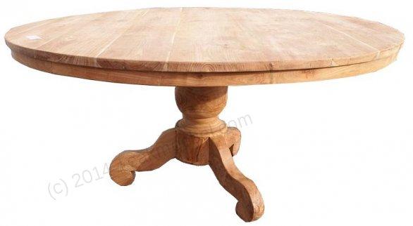 Teak Tisch rund Ø 160 cm - Bild 0