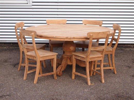 Teak Tisch rund Ø 160 cm - Bild 4