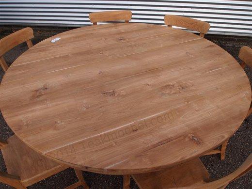 Teak Tisch rund Ø 160 cm - Bild 1