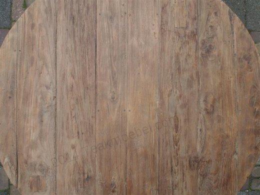 Teak Tisch rund Ø 120 cm altes Holz   - Bild 7