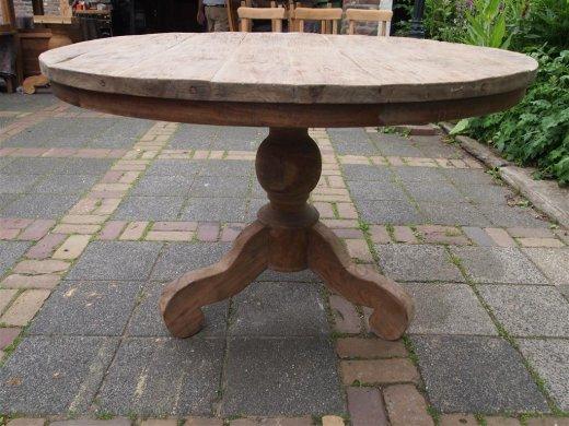 Teak Tisch rund Ø 120 cm altes Holz   - Bild 2
