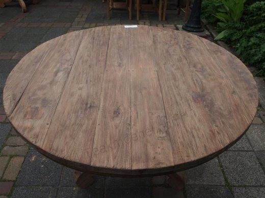 Teak Tisch rund Ø 120 cm altes Holz   - Bild 3