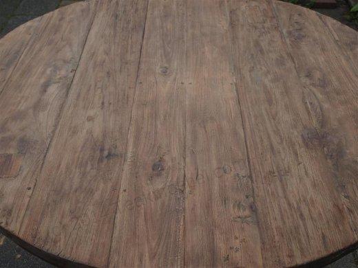 Teak Tisch rund Ø 120 cm altes Holz   - Bild 4