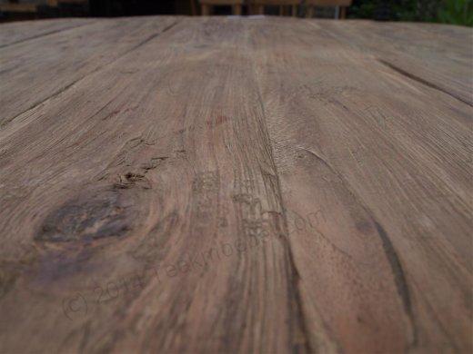 Teak Tisch rund Ø 120 cm altes Holz   - Bild 5