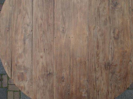 Teak Tisch rund Ø 120 cm altes Holz   - Bild 6