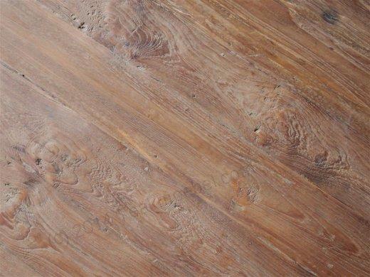 Teak Tisch rund Ø 100 cm altes Holz   - Bild 6