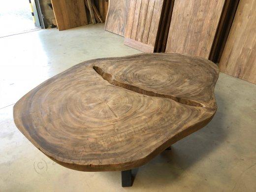 Suar Baumstamm Tisch 205 x 150 Stahlfuss - Bild 11