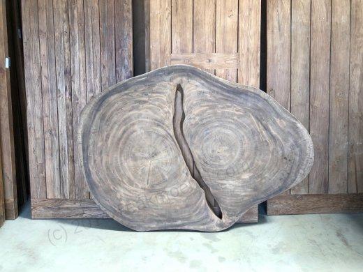 Suar Baumstamm Tisch 205 x 150 Stahlfuss - Bild 12
