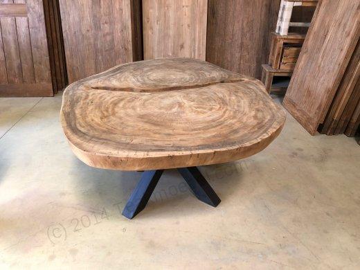 Suar Baumstamm Tisch 205 x 150 Stahlfuss - Bild 5