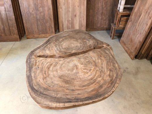 Suar Baumstamm Tisch 205 x 150 Stahlfuss - Bild 7