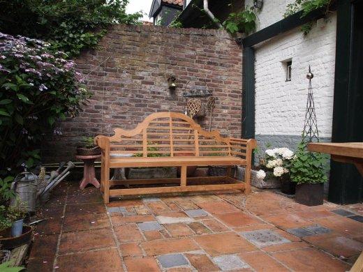 Teak Lutyens Gartenbank - Bild 1