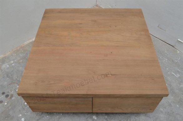 teak couchtisch blok glatt 80x80. Black Bedroom Furniture Sets. Home Design Ideas