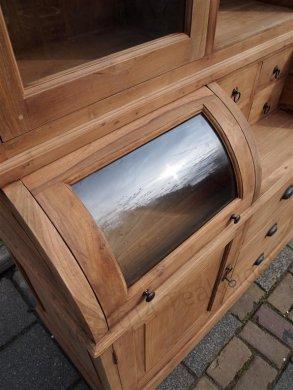 Teak Schrank mit runder Klappe 160cm - Bild 8