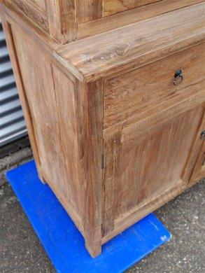 Teak Büffetschrank aus altem Holz 200cm Drehtüren - Bild 6