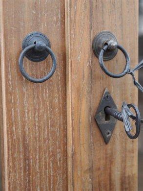 Teak Büffetschrank aus altem Holz 200cm Drehtüren - Bild 5