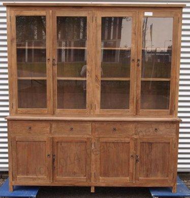 Teak Büffetschrank aus altem Holz 200cm Drehtüren - Bild 3