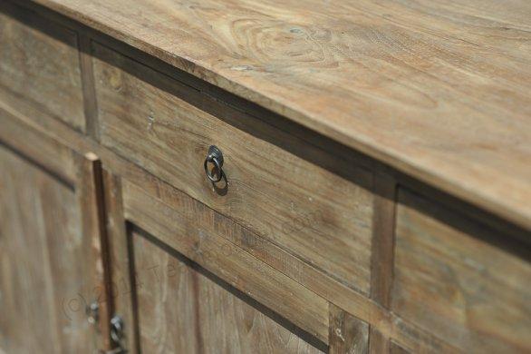 Teak Anrichte altes Holz 160 x 50 x 90 cm - Bild 4
