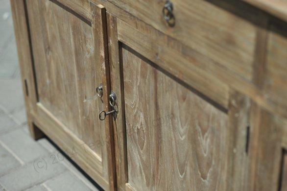 Teak Anrichte altes Holz 160 x 50 x 90 cm - Bild 3
