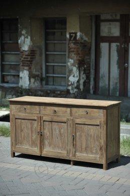 Teak Anrichte altes Holz 160 x 50 x 90 cm - Bild 1
