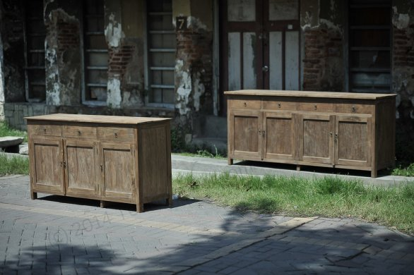 Teak Anrichte altes Holz 160 x 50 x 90 cm - Bild 2