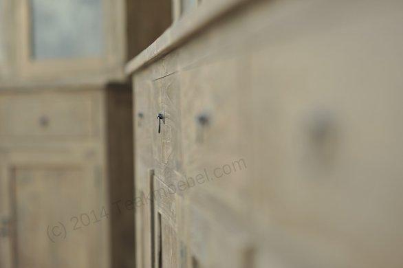Teak Büffetschrank aus altem Holz 200cm Drehtüren - Bild 9
