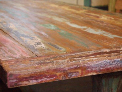 Teak Klostertisch mit Farbresten - Bild 1