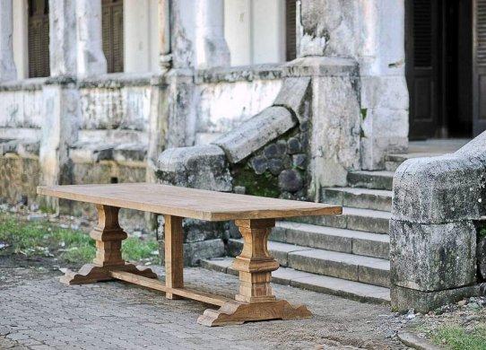 Teakholz Klostertisch 320x110cm - Bild 2