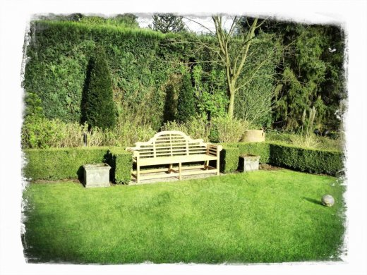 Teak Lutyens Gartenbank - Bild 5