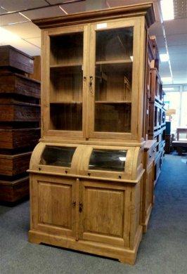 teak schrank mit runder klappe 114cm. Black Bedroom Furniture Sets. Home Design Ideas
