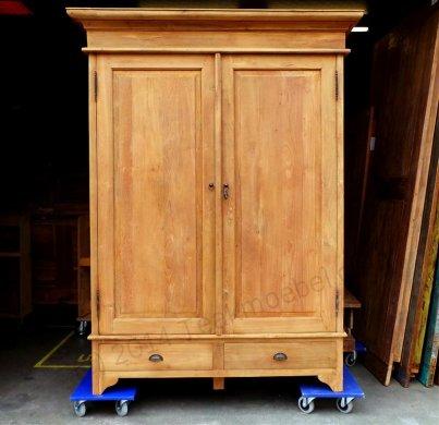 Teak Schrank 2-Türen 140 x 55 x 210 cm - Bild 1