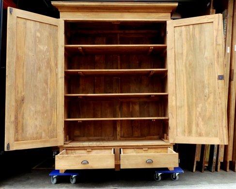 Teak Schrank 2-Türen 140 x 55 x 210 cm - Bild 2