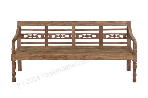 Teak Holz Bahnhofbank 4-Personen - Bild 7