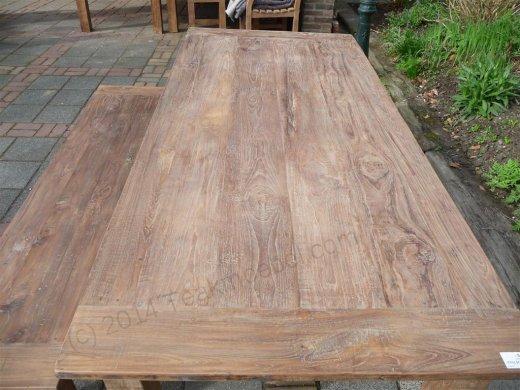 Teak Tisch aus altem Holz 220 x 100 cm - Bild 11