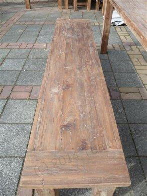 Teak Tisch aus altem Holz 220 x 100 cm - Bild 12
