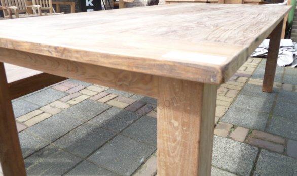 Teak Tisch aus altem Holz 220 x 100 cm - Bild 2