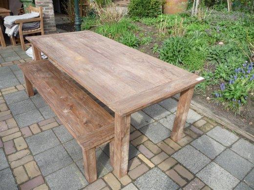 Teak Tisch aus altem Holz 220 x 100 cm - Bild 8