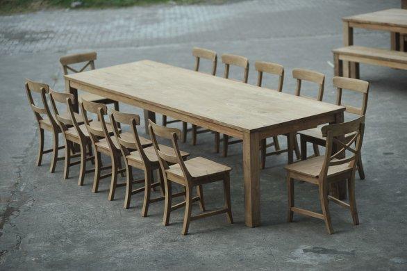 Teak Tisch 300 x 100 cm - Bild 3