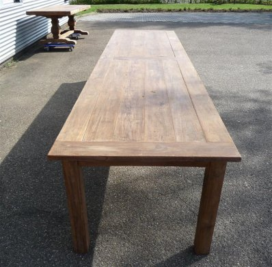 Teak Tisch altes Holz 400 x 100 cm - Bild 7